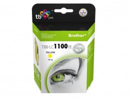 Tusz do Brother LC980/1100 TBB-LC1100YE YE 100% nowy