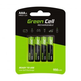 Green Cell Akumulatorki Paluszki 4x AAA HR03 950mAh