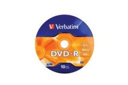 DVD-R 16x 4.7GB 10P SP Matt Silver Wrap 43729