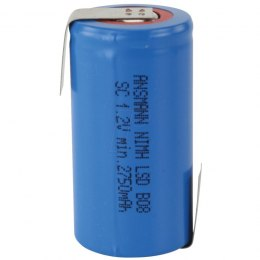 Ansmann Akumulator NiMH Rechargeable battery / Typ 3000 (min. 2750 mAh) max with solder tail