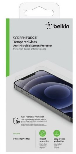 Belkin Szkło ochronne ScreenForce TemperedGlass iPhone 12 Pro Max