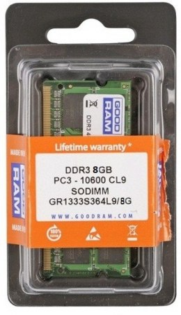 DDR3 SODIMM 8GB/1333 (1*8GB) CL9