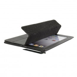 ETUI POKROWIEC LEATHER SLIMME COVER TYPE v3 IPAD2/3 black MELKCO