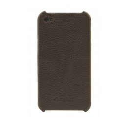 ETUI POKROWIEC LEATHER SNAP COVER IPHONE 4/4s brown MELKCO
