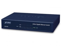SWITCH PLANET GSD-803 8X 1GB/S SOHO DESKTOP GIGABIT ETHERNET